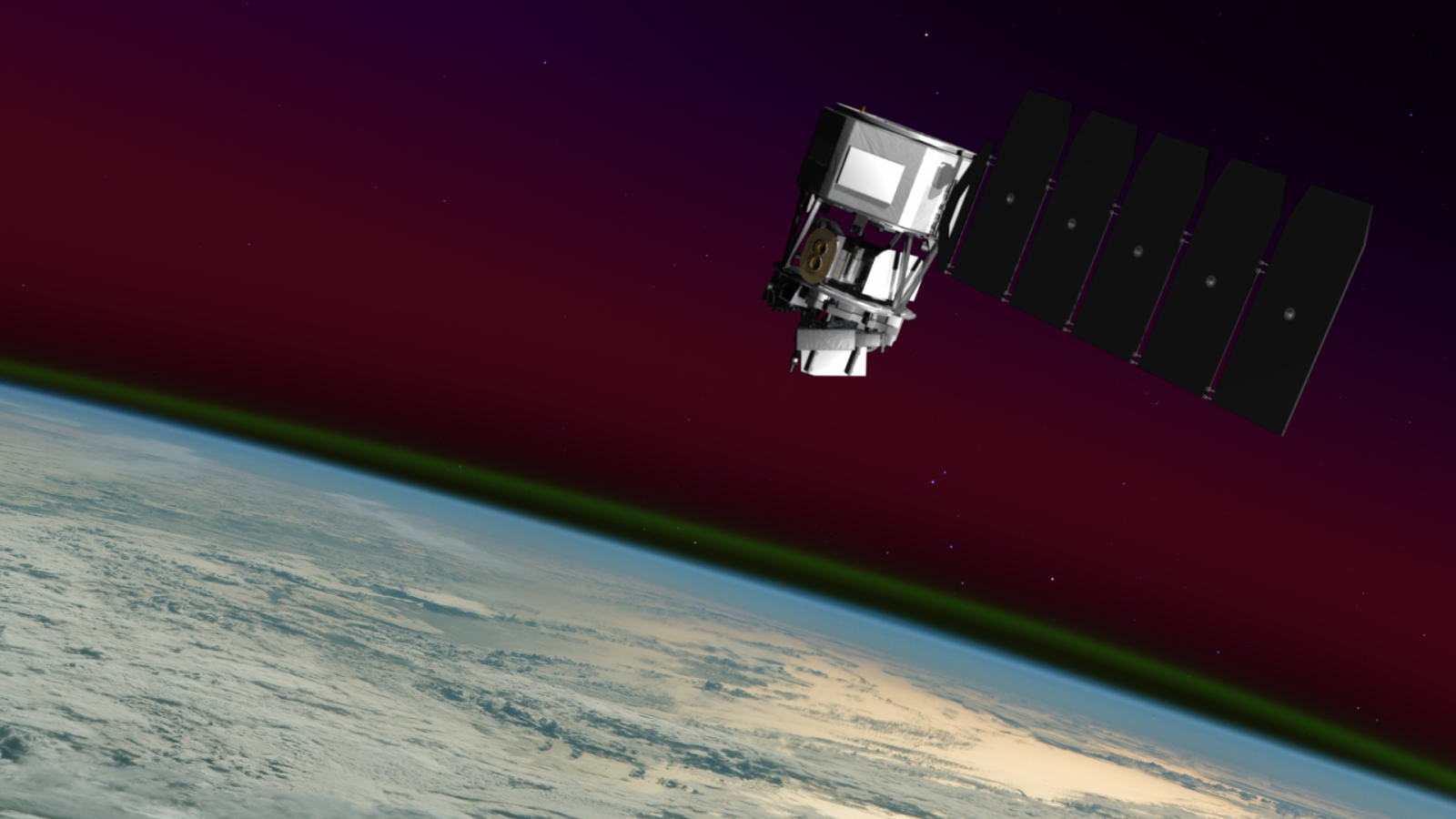 Artist's representation of the ICON spacecraft in orbit. Image Credit: NASA