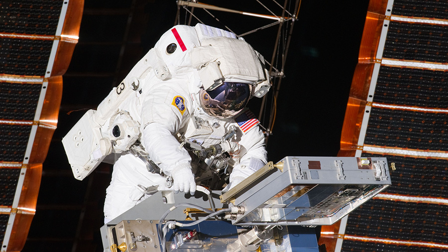 NASA astronaut Andrew Feustel during a spacewalk in May 2011. Source: Nasa.gov